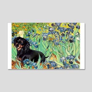 Irises & Dachshund (BT4) 20x12 Wall Decal