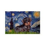 Starry Night Dachshund (Wire) 35x21 Wall Decal