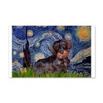 Starry Night Dachshund (Wire) 20x12 Wall Decal