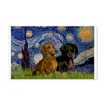 Starry Night Doxie Pair 20x12 Wall Decal