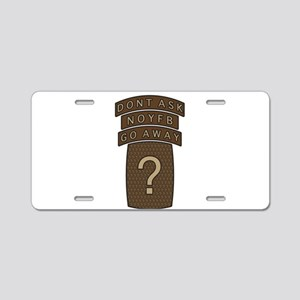 NOYFB Aluminum License Plate