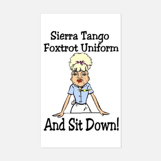 STFU! Sticker (Rectangle)