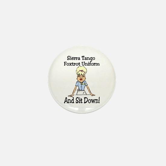 STFU! Mini Button