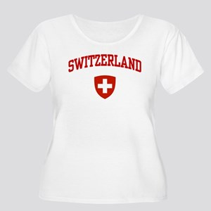 Switzerland Women's Plus Size Scoop Neck T-Shirt