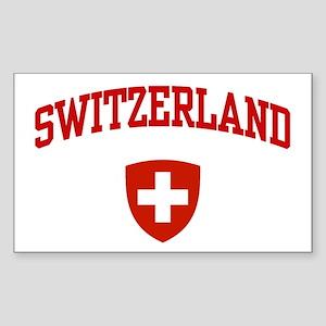 Switzerland Rectangle Sticker