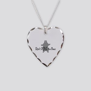 Don't Poke The Bear Necklace Heart Charm
