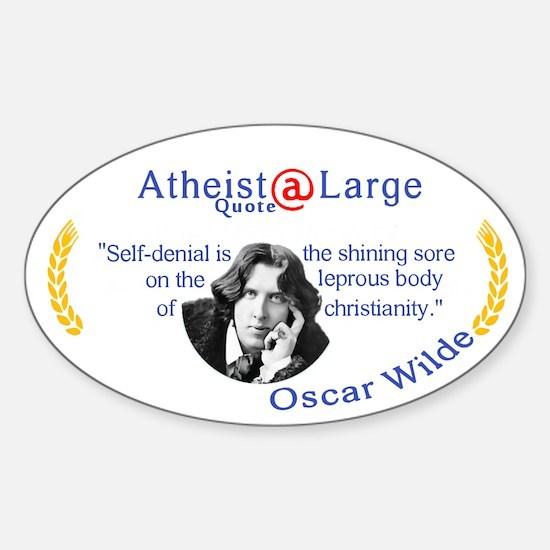 Oscar Wilde leprous Christianity Sticker (Oval)