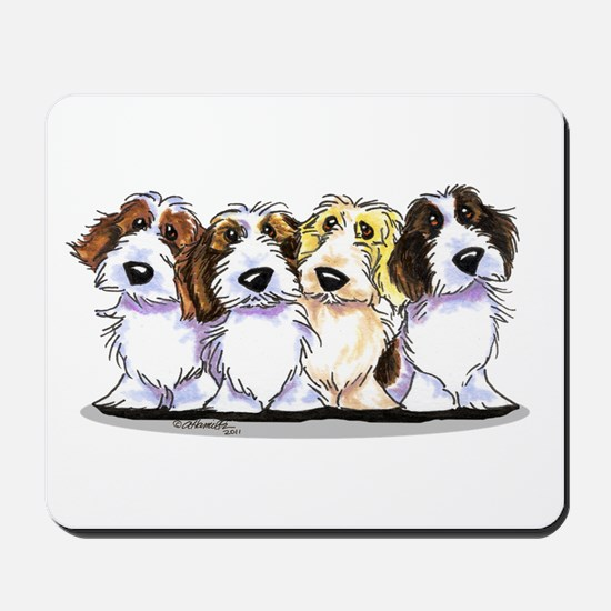 Four PBGV Mousepad