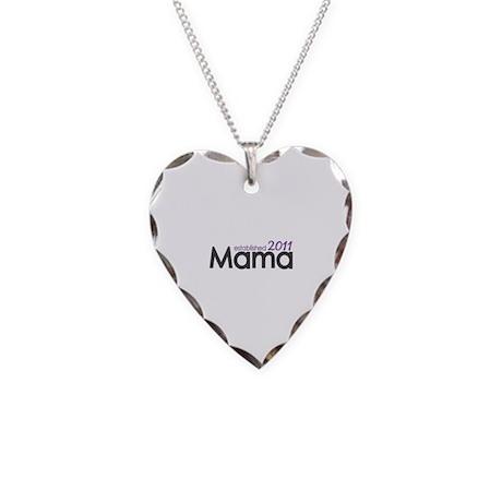 Mama Established 2011 Necklace Heart Charm