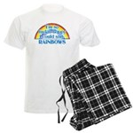 Happy Rainbows Men's Light Pajamas