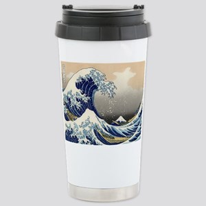 Classic Japanese Art Stainless Steel Travel Mug
