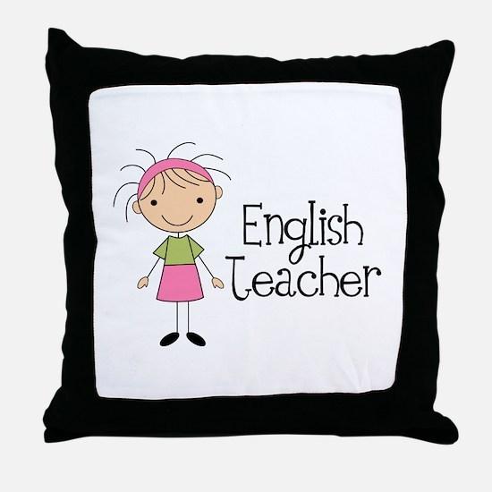 English Teacher Throw Pillow
