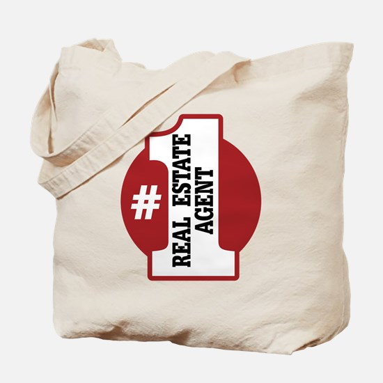 #1 Real Estate Agent Tote Bag