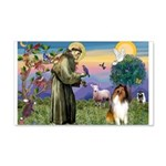 St Francis / Collie 22x14 Wall Peel