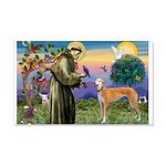 St Francis / Greyhound (f) 22x14 Wall Peel