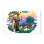 St.Francis #2 / Pekingese #1 22x14 Wall Peel