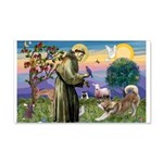 St Francis #2 / Red Husky 22x14 Wall Peel