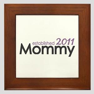 Mommy Est 2011 Framed Tile