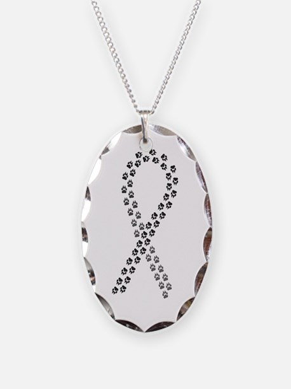 Black paw ribbon Necklace