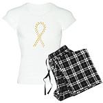 Gold paw ribbon Women's Light Pajamas