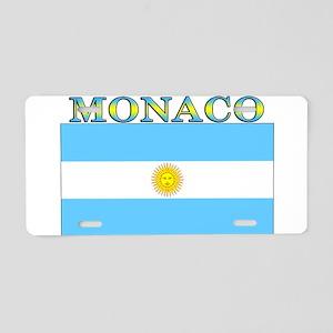 Monaco Argentina Flag Aluminum License Plate
