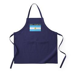 Del Porto Argentina Flag Apron (dark)