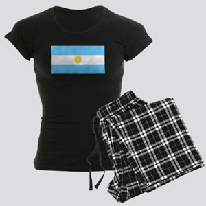 Argentina Blank Flag Women's Dark Pajamas