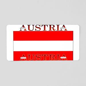 Austria Austrian Flag Aluminum License Plate