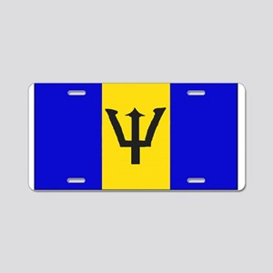 Barbados Blank Flag Aluminum License Plate