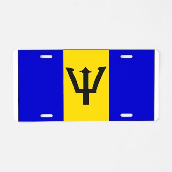 Barbados Blank Flag Aluminum License Plate