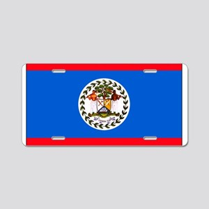 Belize Blank Flag Aluminum License Plate