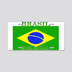 Brasil Flag Aluminum License Plate