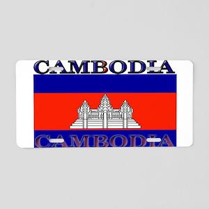 Cambodia Cambodian Flag Aluminum License Plate