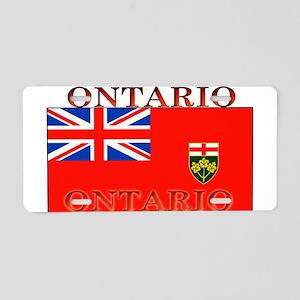 Ontario Ontarian Flag Aluminum License Plate