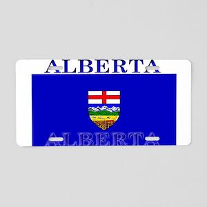 Alberta Albertan Flag Aluminum License Plate