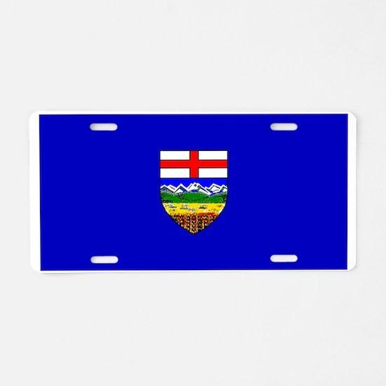 Alberta Albertan Blank Flag Aluminum License Plate