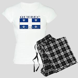 Quebec Quebecer Flag Women's Light Pajamas