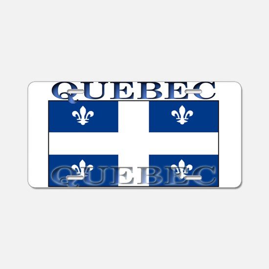 Quebec Quebecer Flag Aluminum License Plate