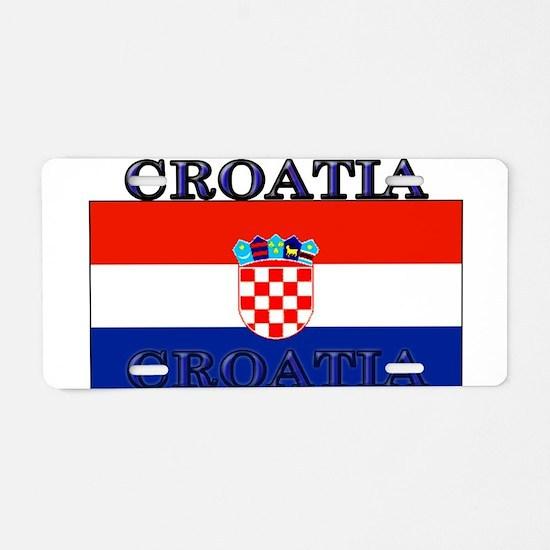 Croatia Croatian Flag Aluminum License Plate