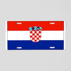 Croatia Blank Flag Aluminum License Plate