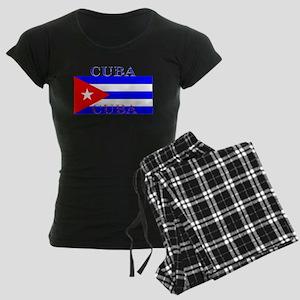 Cuba Cuban Flag Women's Dark Pajamas