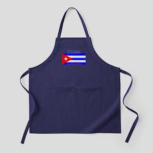 Cuba Cuban Flag Apron (dark)