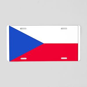Czechoslovakia Blank Flag Aluminum License Plate