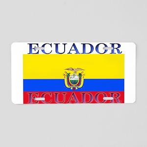 Ecuador Ecuadorian Flag Aluminum License Plate
