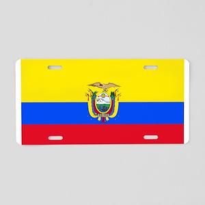 Ecuador Ecuadorian Blank Flag Aluminum License Pla