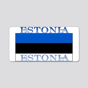 Estonia Estonian Flag Aluminum License Plate