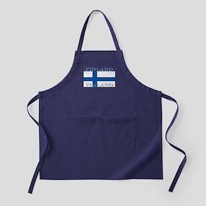 Finland Finish Flag Apron (dark)