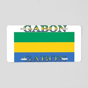 Gabon Gabonese Flag Aluminum License Plate