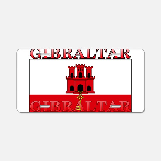 Gibraltar Flag Aluminum License Plate