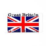 Great Britain British Flag Aluminum License Plate